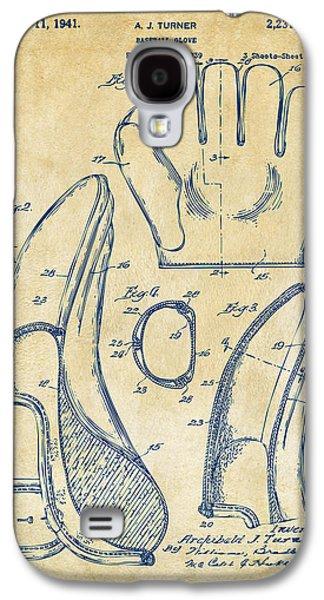 1941 Baseball Glove Patent - Vintage Galaxy S4 Case by Nikki Marie Smith