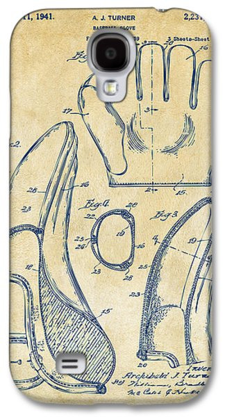 1941 Baseball Glove Patent - Vintage Galaxy S4 Case by Nikki Marie Smith