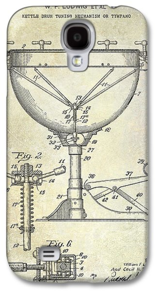 Drum Galaxy S4 Case - 1941 Ludwig Drum Patent  by Jon Neidert