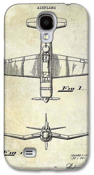 1946 Airplane Patent Galaxy S4 Case by Jon Neidert