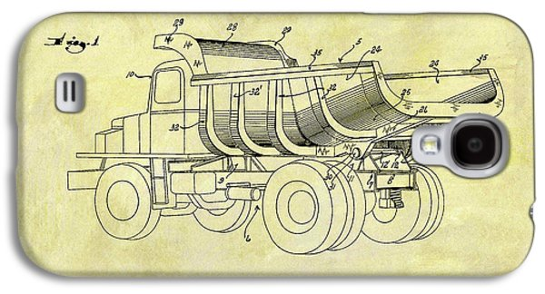 1949 Dump Truck Patent Design Galaxy S4 Case by Dan Sproul
