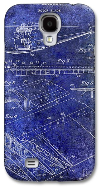 1949 Helicopter Patent Blue Galaxy S4 Case