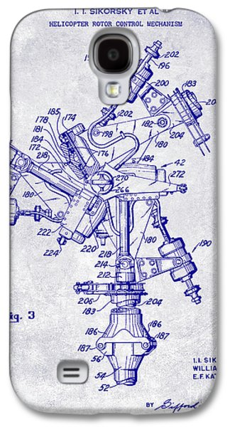 1950 Helicopter Patent Blueprint Galaxy S4 Case