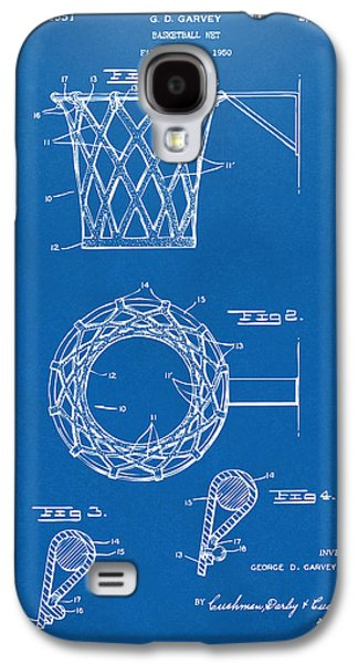 1951 Basketball Net Patent Artwork - Blueprint Galaxy S4 Case by Nikki Marie Smith