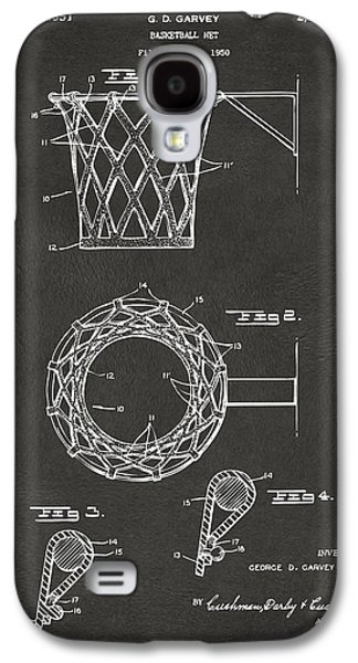 1951 Basketball Net Patent Artwork - Gray Galaxy S4 Case by Nikki Marie Smith