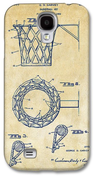 1951 Basketball Net Patent Artwork - Vintage Galaxy S4 Case by Nikki Marie Smith