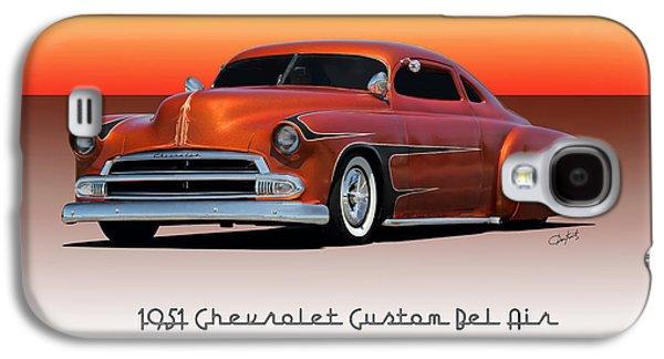 Slam Galaxy S4 Cases - 1951 Chevrolet Bel Air Custom Galaxy S4 Case by Dave Koontz