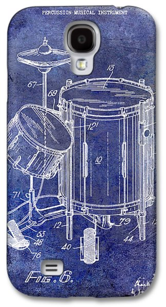 Drum Galaxy S4 Case - 1951 Drum Kit Patent Blue by Jon Neidert