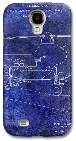 1953 Helicopter Patent Blue Galaxy S4 Case
