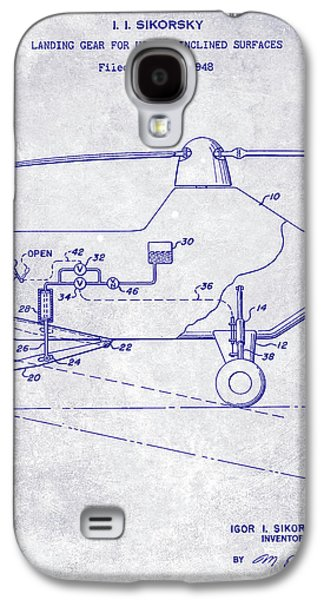 1953 Helicopter Patent Blueprint Galaxy S4 Case