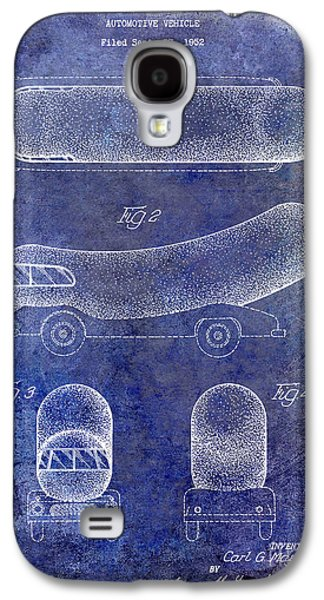 1954 Weiner Mobile Patent Blue Galaxy S4 Case