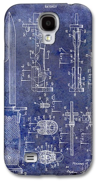 1955 Bayonet Patent Blue Galaxy S4 Case by Jon Neidert