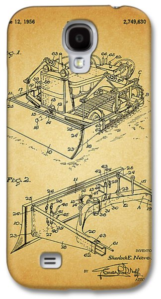 1956 Bulldozer Patent Galaxy S4 Case by Dan Sproul