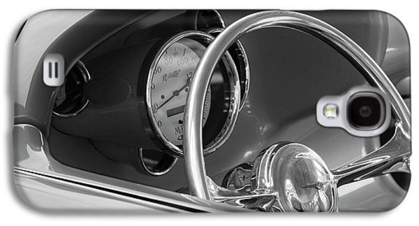 Wagon Photographs Galaxy S4 Cases - 1956 Chrysler Hot Rod Steering Wheel Galaxy S4 Case by Jill Reger