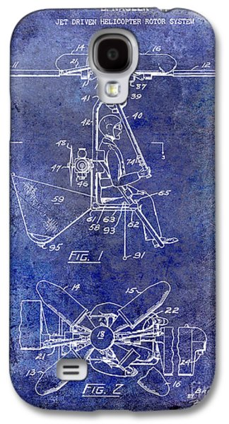 1956 Helicopter Patent Blue Galaxy S4 Case by Jon Neidert