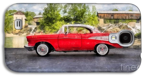 1957 Chevrolet Bel Air Watercolor Galaxy S4 Case