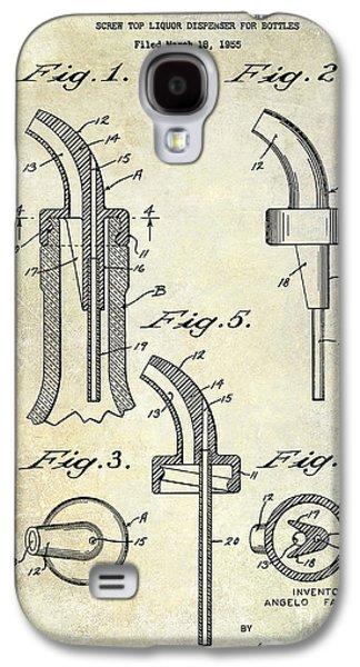 1958 Liquor Bottle Pour Patent Galaxy S4 Case by Jon Neidert