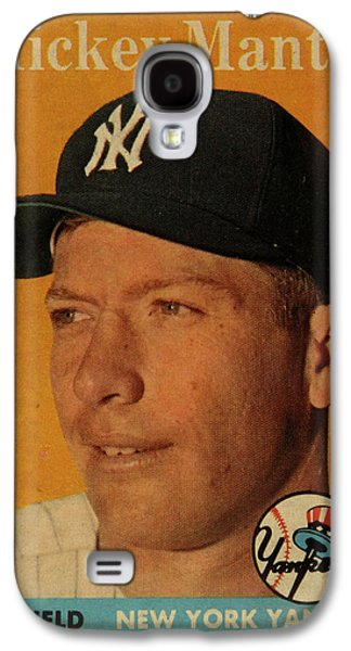 1958 Topps Baseball Mickey Mantle Card Vintage Poster Galaxy S4 Case