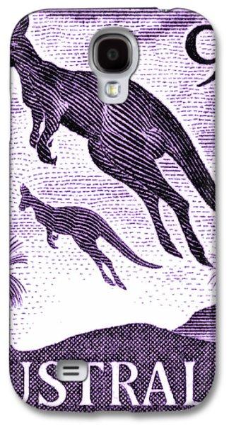 Kangaroo Galaxy S4 Case - 1959 Australia Kangaroo Postage Stamp by Retro Graphics