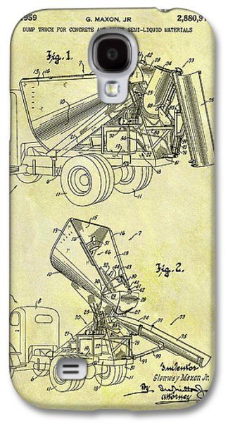 1959 Concrete Dump Truck Galaxy S4 Case by Dan Sproul
