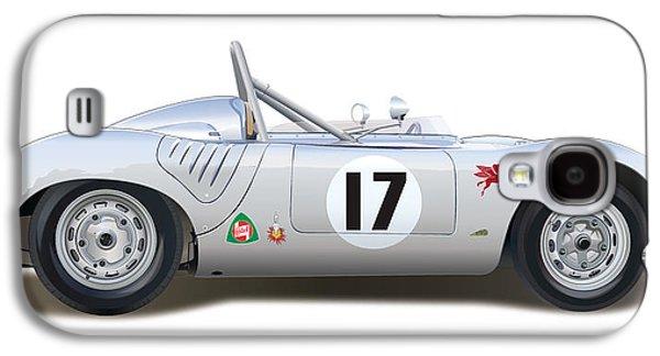 1959 Porsche Type 718 Rsk Spyder Galaxy S4 Case by Alain Jamar