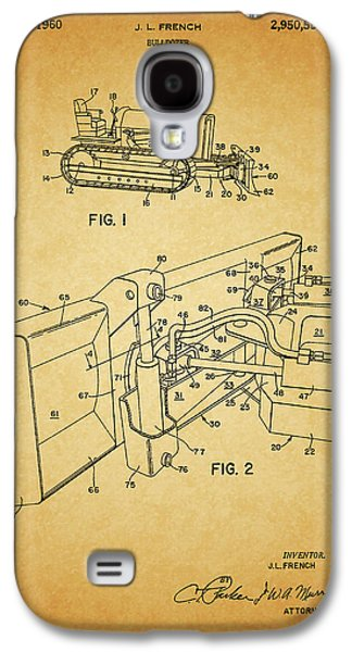 1960 Bulldozer Patent Galaxy S4 Case by Dan Sproul