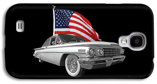 1960 Oldsmobile With Us Flag Galaxy S4 Case by Gill Billington