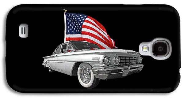 1960 Oldsmobile With Us Flag Galaxy S4 Case