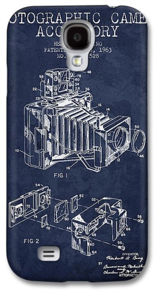 1963 Camera Patent - Navy Blue - Nb Galaxy S4 Case by Aged Pixel