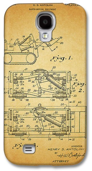 1966 Bulldozer Patent Galaxy S4 Case by Dan Sproul