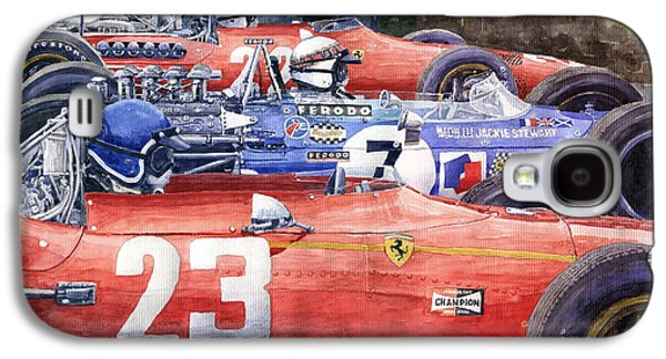 1968 Belgie Gp Spa Ickx Amon Ferrari 312 Stewart Matra Cosworth M15 Galaxy S4 Case