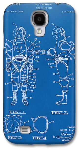 1968 Hard Space Suit Patent Artwork - Blueprint Galaxy S4 Case by Nikki Marie Smith