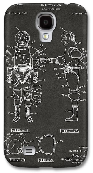 1968 Hard Space Suit Patent Artwork - Gray Galaxy S4 Case by Nikki Marie Smith