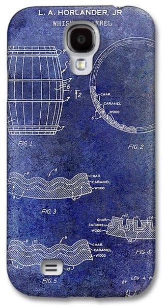 1968 Whiskey Barrel Patent Blue Galaxy S4 Case