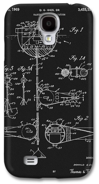 1969 Nautical Weather Station Patent Galaxy S4 Case by Dan Sproul