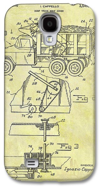 1970 Dump Truck Cover Galaxy S4 Case by Dan Sproul
