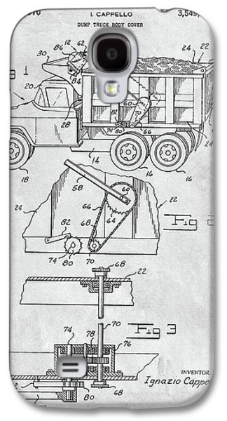 1970 Dump Truck Cover Patent Galaxy S4 Case by Dan Sproul