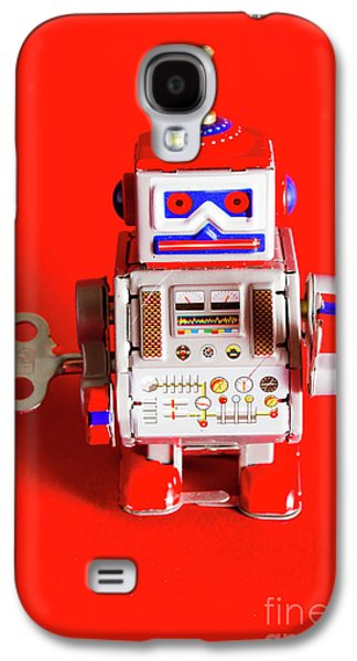 1970s Wind Up Dancing Robot Galaxy S4 Case