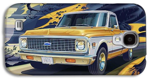 Truck Galaxy S4 Case - 1971 Chevrolet C10 Cheyenne Fleetside 2wd Pickup by Garth Glazier
