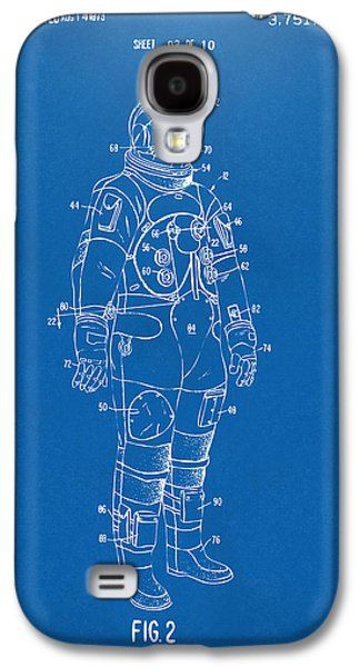 1973 Astronaut Space Suit Patent Artwork - Blueprint Galaxy S4 Case by Nikki Marie Smith