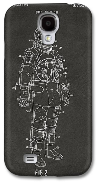 1973 Astronaut Space Suit Patent Artwork - Gray Galaxy S4 Case by Nikki Marie Smith