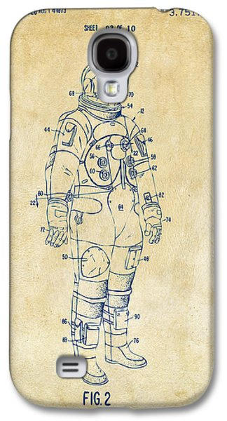 1973 Astronaut Space Suit Patent Artwork - Vintage Galaxy S4 Case by Nikki Marie Smith