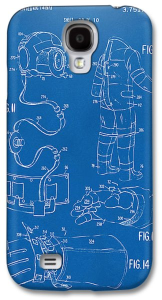 1973 Space Suit Elements Patent Artwork - Blueprint Galaxy S4 Case by Nikki Marie Smith
