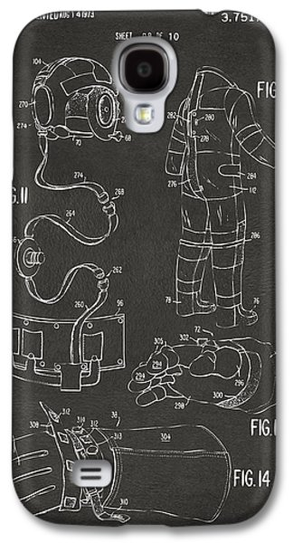 1973 Space Suit Elements Patent Artwork - Gray Galaxy S4 Case by Nikki Marie Smith