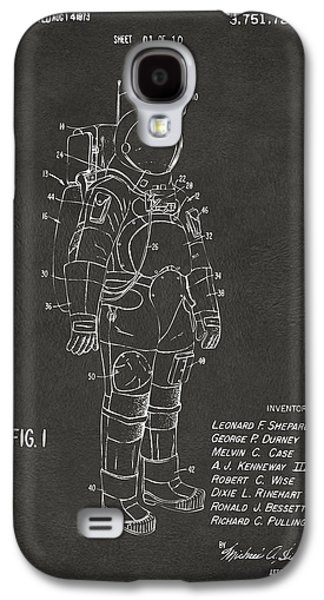 1973 Space Suit Patent Inventors Artwork - Gray Galaxy S4 Case by Nikki Marie Smith