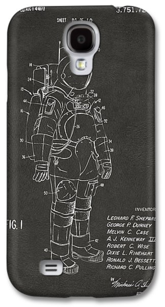 1973 Space Suit Patent Inventors Artwork - Gray Galaxy S4 Case