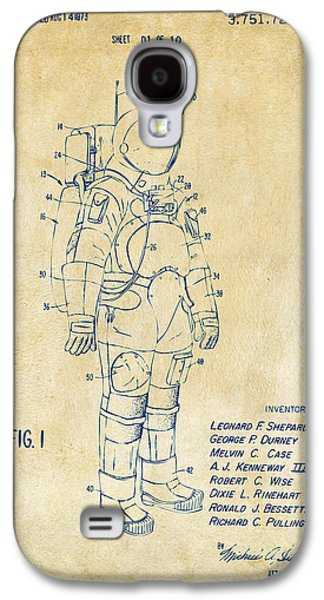1973 Space Suit Patent Inventors Artwork - Vintage Galaxy S4 Case by Nikki Marie Smith