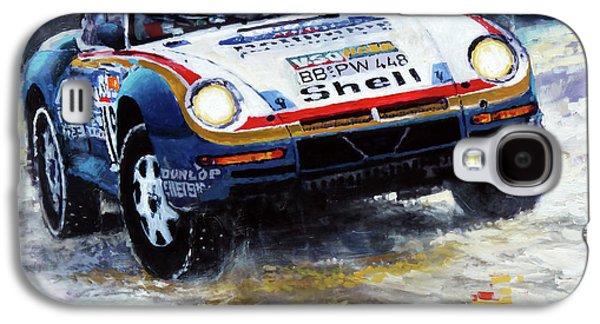 1986 Porsche 959/50 #185 2nd Dakar Rally Raid Ickx, Brasseur Galaxy S4 Case
