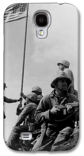 1st Flag Raising On Iwo Jima  Galaxy S4 Case by War Is Hell Store