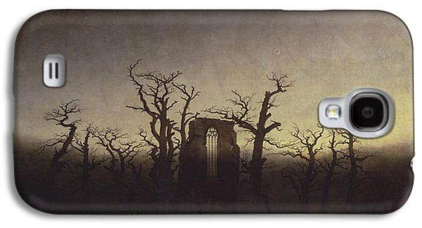 Abbey Among Oak Trees Galaxy S4 Case by Caspar David Friedrich